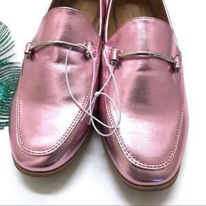 a new day Shoes - A New Day Perry Metallic Pink Penny Loafer Slides